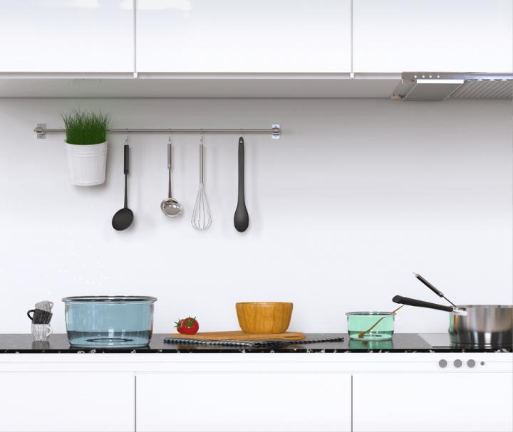 löffelfertige Kücheneinrichtung